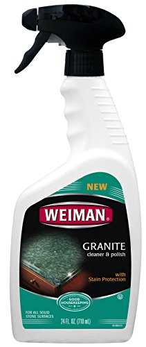 Weiman Granite Cleaner & Polish - Daily Use, Streak-Free Formula for Countertops, Marble, Quartz, Laminate, and Tile, 24 fl oz