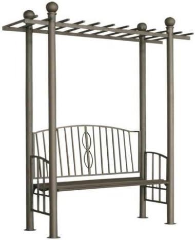 CLP Arco para rosal metálico Pergola Ulpgar 02 – estacionamiento de jardín de metal – soporte para plantas trepadoras con de Belles condecoraciones, altura: 221 cm) Antracita: Amazon.es: Hogar