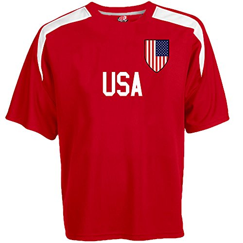 Customized USA Soccer Jersey Adult 2X-Large in Scarlet Red and - Names Different Of Sports Of Types