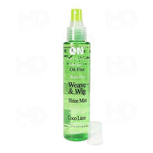 On Organic Natural Premium Oil-Free Weave & Wig Shine Mist Coco Lime 4.5 oz