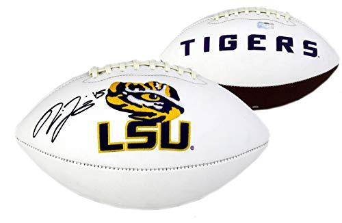 Jones Signed Football - Deion Jones Signed LSU Tigers Embroidered NCAA Football - Autographed College Footballs