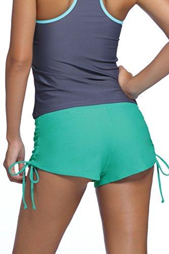 Traje de baño de damas pantalones cortos de natación Panty Shorts Shorts base corta-Uni menta