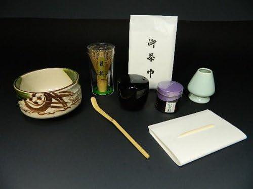 【茶器・茶道具】 お抹茶セット 9点 織部焼