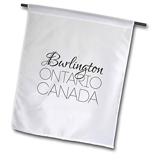 3dRose Alexis Design - Canadian Cities - Burlington Ontario, Canada. Charming Patriotic Home Town Gift - 12 x 18 inch Garden Flag (fl_304842_1) -