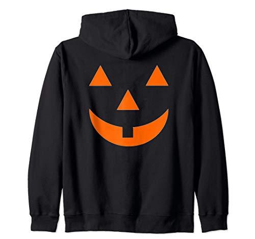 Smiley Face Pumpkin (Jack O Lantern Halloween Pumpkin Face Mask Smiley Zip)