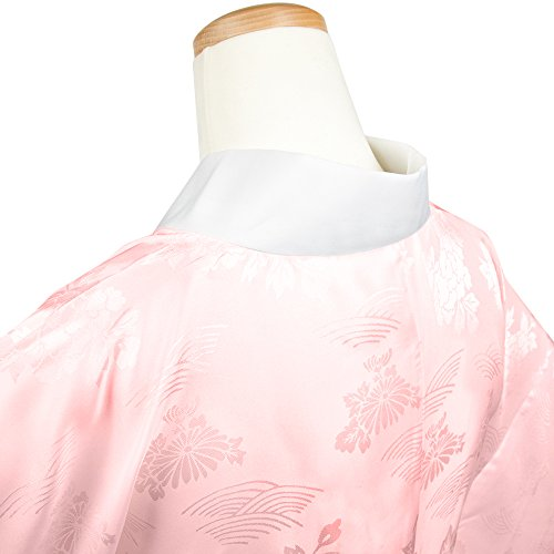 [キョウエツ] 長襦袢 洗える 襦袢 地紋入り 半襟 衣紋抜き付き レディース