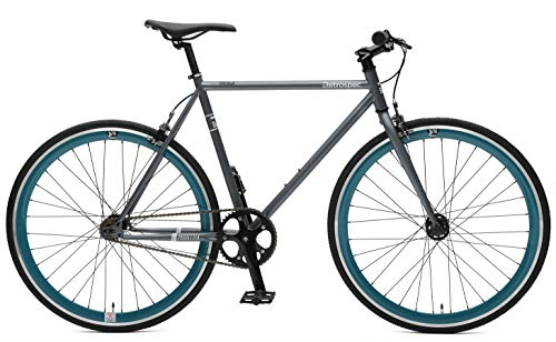 - Retrospec Bicycles Mantra V2 Single Speed Fixed Gear Bicycle, Graphite/Teal, 61cm/X-Large