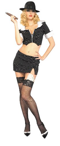 Secret Wishes Costume Ms. Capone Sassy Gangster Costume, Multi, Medium