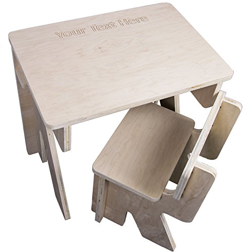Kids2D3D Custom Childrens Desk and Chair Set for School and Home (Easy to Assemble, Made in USA) (Unfinished, Maple) by Print2D3D