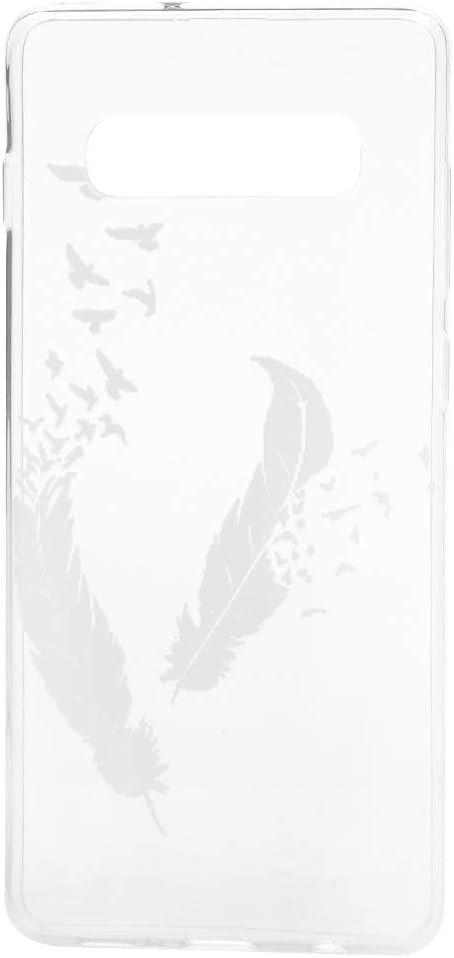 GODTOOK pour Samsung Galaxy S10 Plus Coque Silicone TPU Souple Couvercle Transparent Ultra L/éger Ultra Souple Flexible de Protection de T/él/éphone Case Oiseau Volant Plume