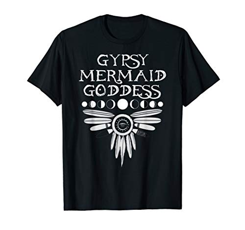 Gypsy Mermaid Goddess Mermaid T-shirt Girl Women Lady ()