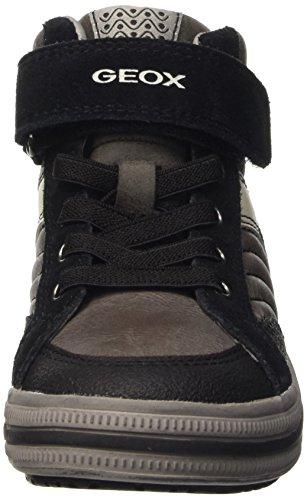 Sneakers Boys' Geox Blackc0062 Grey Dk a Grey Hi Top Elvis Jr YqUdwxYC