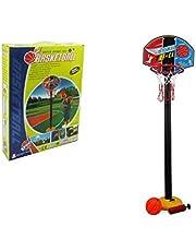 ستاند كرة السلة المتنفل بارتفاع 1 متر و 46 سم متر يحتوي على الشبك والكرة ومنفاخ الهواء ,لعبة تعليمية للأطفال متعدد الالوان