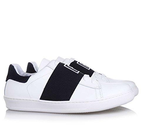 CARLO PIGNATELLI - Weißer Schuh mit Schnürsenkeln, aus Leder, made in Italy, eleganter und feiner Stil, elastisches, Jungen