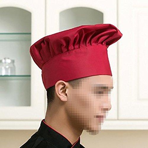 lubier Cappello da chef rosso Cappello da cucina per bambini personalizzato elastico per cucina