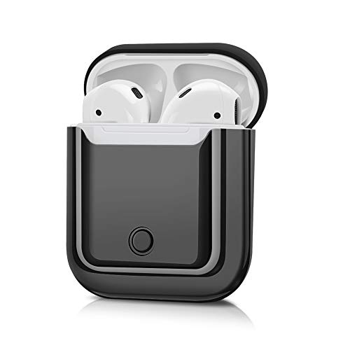 JuQBanke Compatible for AirPod Case,Airpod Skin,Airpod Accessories Shockproof Protective case Cover Silicone Skin for Apple AirPods Charging Case,Black