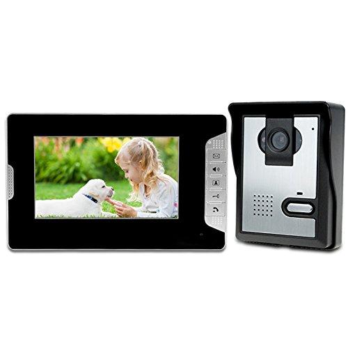 "LIBO Smart Home 7"" Waterproof Video Intercom Wired Video Door Phone Intercom Digital HD Monitor IR Night Vision Camera for House Door Entry System"
