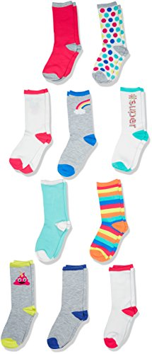 The Childrens Place Girls Toddler Crew Socks (Pack of 10)
