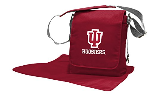 Wild Sports NCAA College Indiana Hoosiers Messenger Diaper Bag, 13.25 x 12.25 x 5.75-Inch, Red by Wild Sports