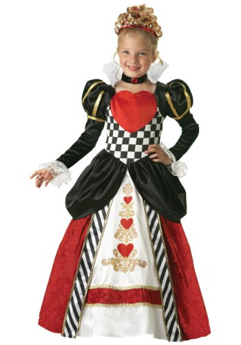 InCharacter Costumes Girls Queen of Hearts Costume, Black/Red, Small]()