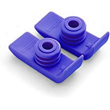 1 Pair Durable Ski Glides for Drive Walkers (Purple)