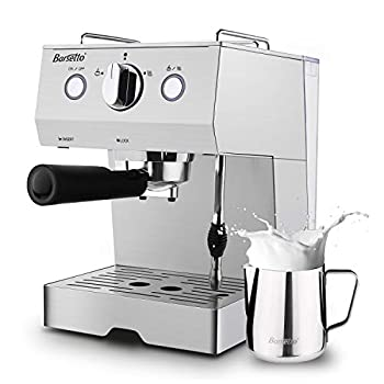 Image of Home and Kitchen Espresso Machine 15 Bar Coffee Machine, Stainless Steel Coffee Brewer with Milk Frother Wand & Milk Frothing Pitcher, for Cappuccino and Latte,1050W
