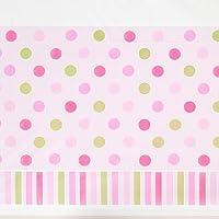 "Amscan Pretty New Little Princess Baby Shower Party Lunares y rayas Cubierta de tabla, Plástico, 54 ""x 102"""