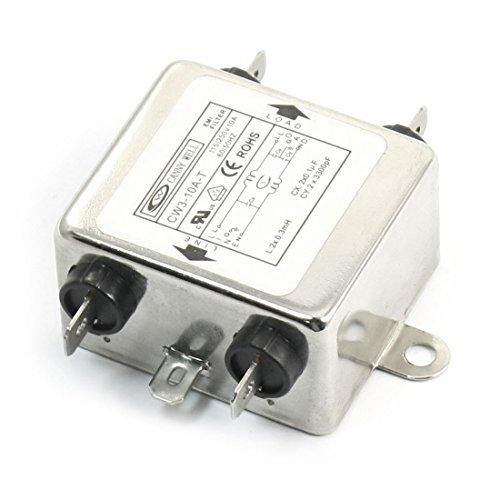 eDealMax CW3-10A-T AC 115V / 250V 10A monofase soppressore dei rumori filtro EMI by eDealMax