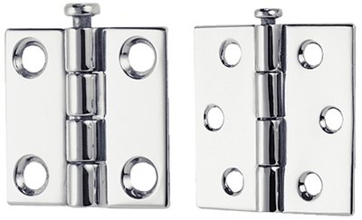 Perko 1293DP6CHR Butt Hinge - Removable Pin - 2-1/2