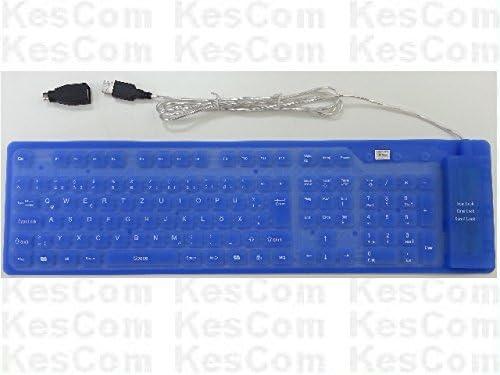 KesCom Teclado flexible PS/2 USB, resistente al agua ...