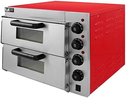 Kukoo - Horno Eléctrico para Pizza de 40cm con Doble Cámara ...
