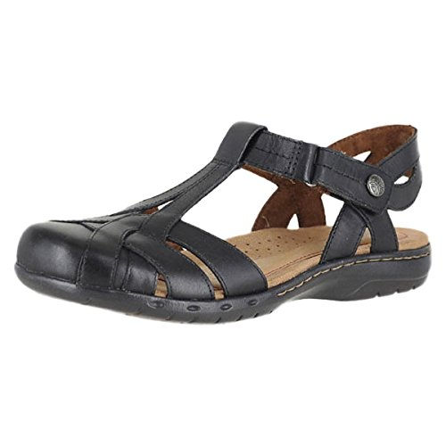 Rockport Leather Clogs - Rockport Cobb Hill Collection CH Penfield T Sandal Black Leather Womens Velcro Strap Size 11M