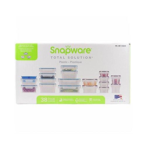 Snapware Plastic Food Storage Set, 38 Pieces Snapware Snap