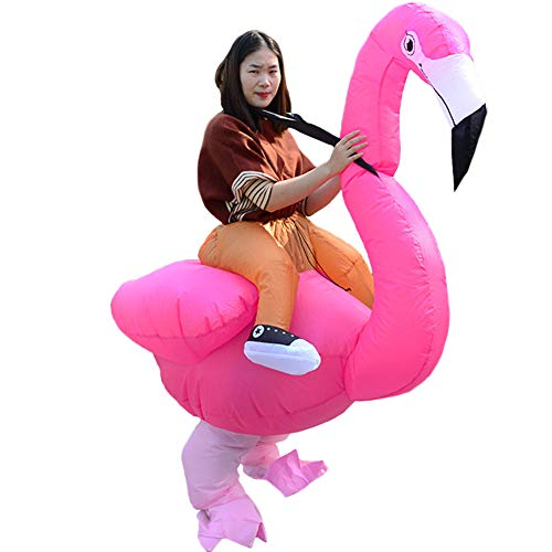 HUAYUARTS Men Inflatable Costume Flamingo Cloth Rose Women Fancy Dress Blow up Halloween Cosplay Gift, Adult, Free -