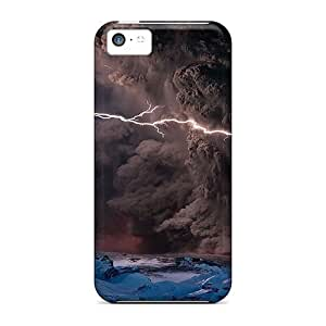 Cynthaskey Snap On Hard Case Cover Volcano Eruption Lightning Protector For Iphone 5c