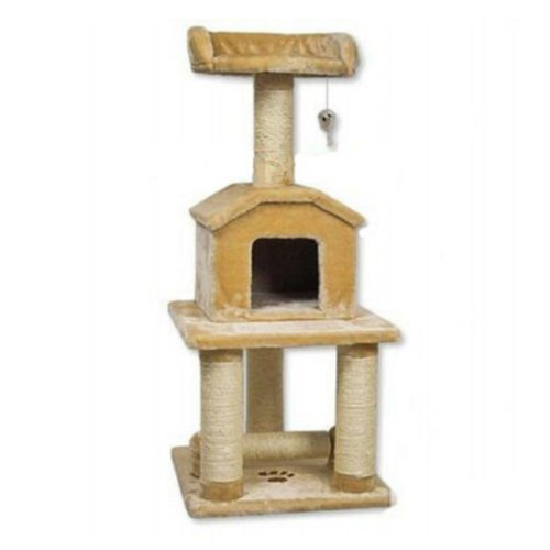 Go Pet Club 45″ Tall Beige Cat Tree Furniture, My Pet Supplies