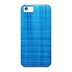 Jeffrehing Iphone 5c Hybrid Tpu Case Cover Silicon Bumper Blue Lines by runtopwell