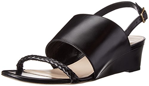 Cole Haan Women's Lise Wedge,Black Leather,6.5 B US