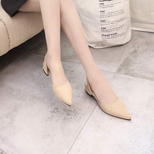 Tacco Femminili Scarpe Sandali Casual da Donna estive Strappy Punta alla Moda delle Scarpe Scarpe Piatto Traspiranti Donne alla Scarpe 4qYznBw