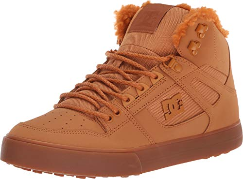 DC Shoes Men's Pure WNT Winter High-Top Boots Wheat/White 10