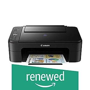 (Renewed) Canon Pixma E3170 All in One Inkjet Printer (Black)
