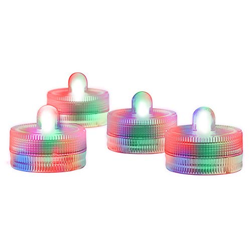 Submersible LED Lights cr2032 Battery Powered Underwater Waterproof LED Tea Light Candles for Events Wedding Centerpieces Vase Floral Xmas Holidays Home Decor Lighting(Pack of 12) (Multi-Colored)