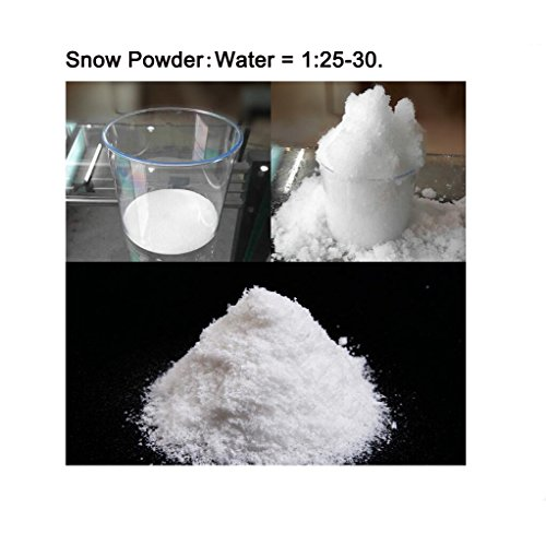 Zinnor Instant Snow Powder, Fake Artificial Snow - Magic Instant Fake Fluffy Snow Super Absorbant for Slime - Best Gifts for Science Activities, Play Dates, Parties, Games, Decoration,Holiday (2 PACK) by Zinnor (Image #7)