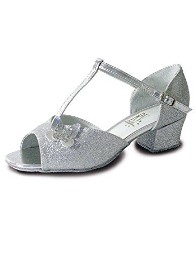 Valley Ballroom Carrie Silver Glitter Roch Girls Shoe xnw0qO