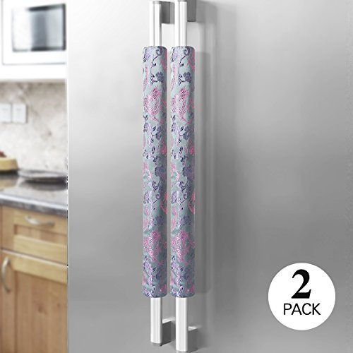 Ougar8 Refrigerator Door Handle Covers Handmade Decor Protector for Ovens, Dishwashers.Keep Your Kitchen Appliance Clean From Smudges, Food Stains(Sil…