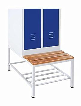 Spind Sitzbank Untergestell mit Schuhrost 524230 für 2türigen 600mm Spind