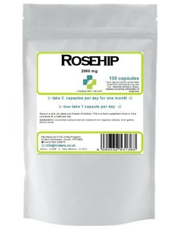 Rosehip 100 Capsules 2000mg (rose hip pills)