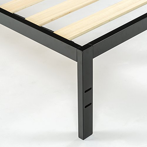 "Zinus Modern Studio 14 Inch Platform 1500 Metal Bed Frame, Cot size, 30"" x 75"", Mattress Foundation, no Boxspring needed, Wood Slat Support, Good Design Award Winner, Narrow Twin by Zinus (Image #4)"