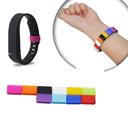 The DigiHero 10 Colors Silicone Fasteners for Fitbit Flex Wristband (10 pcs / pack)