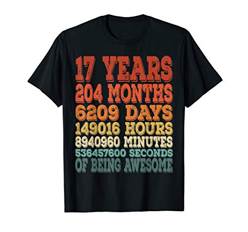 17 bday shirt 17th birthday gift ideas 17 years old gift (Gift Ideas For 17 Yr Old Boy)